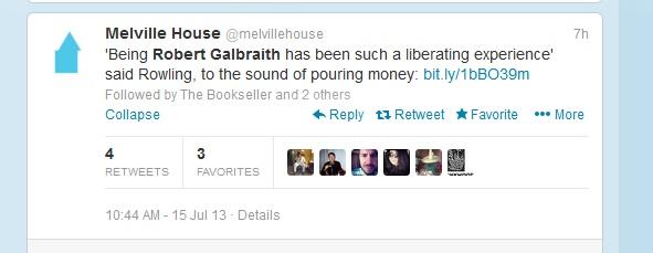 melville house jk rowling galbraith