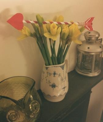 cupid arrow valentines card hidden message