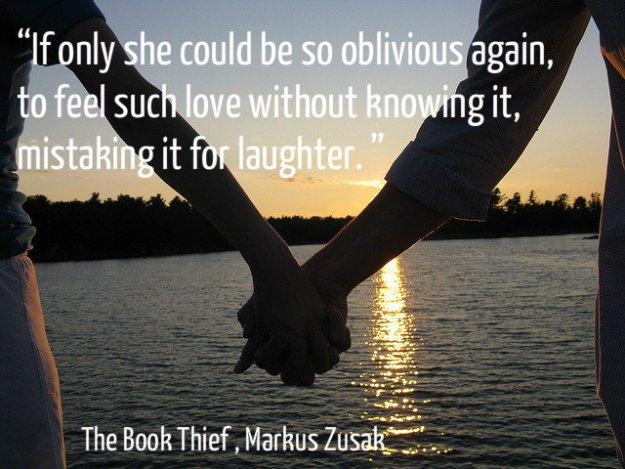 If only she could be so oblivious again, to feel such love without knowing it, mistaking it for laughter.