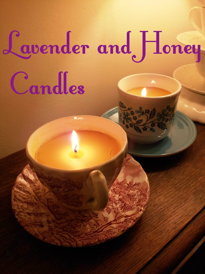 Lavender and honey candles