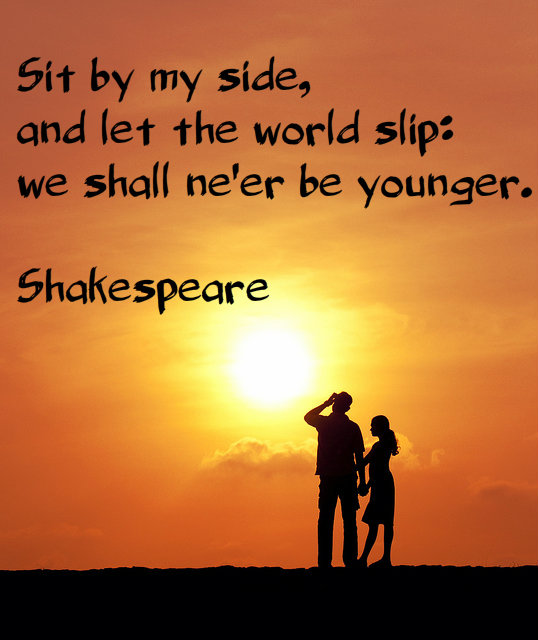 we shall never be younger shakespeare