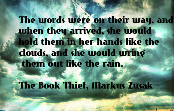 the book thief the words were on their way