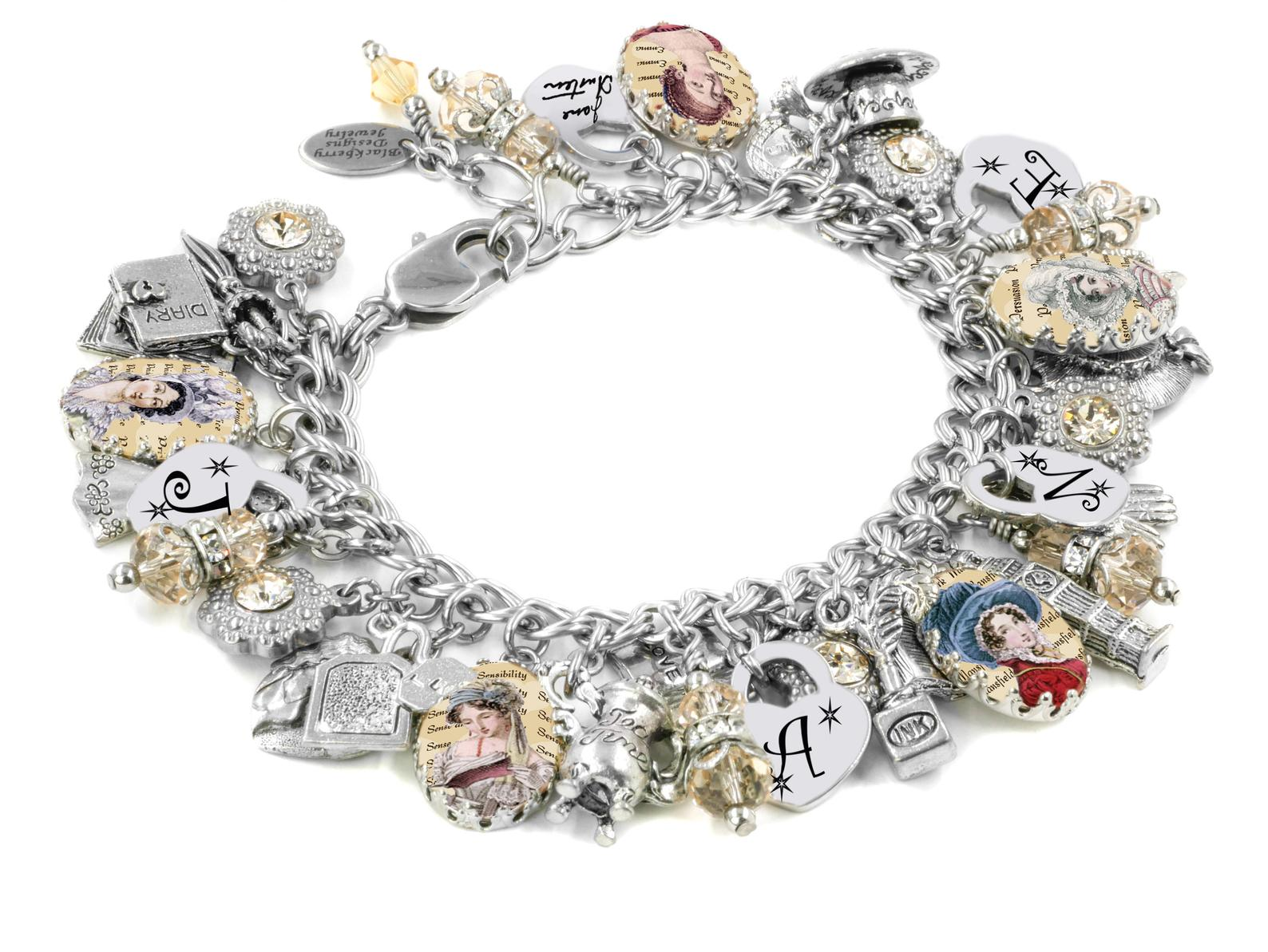 Jane Austen Personalised Charm Bracelet