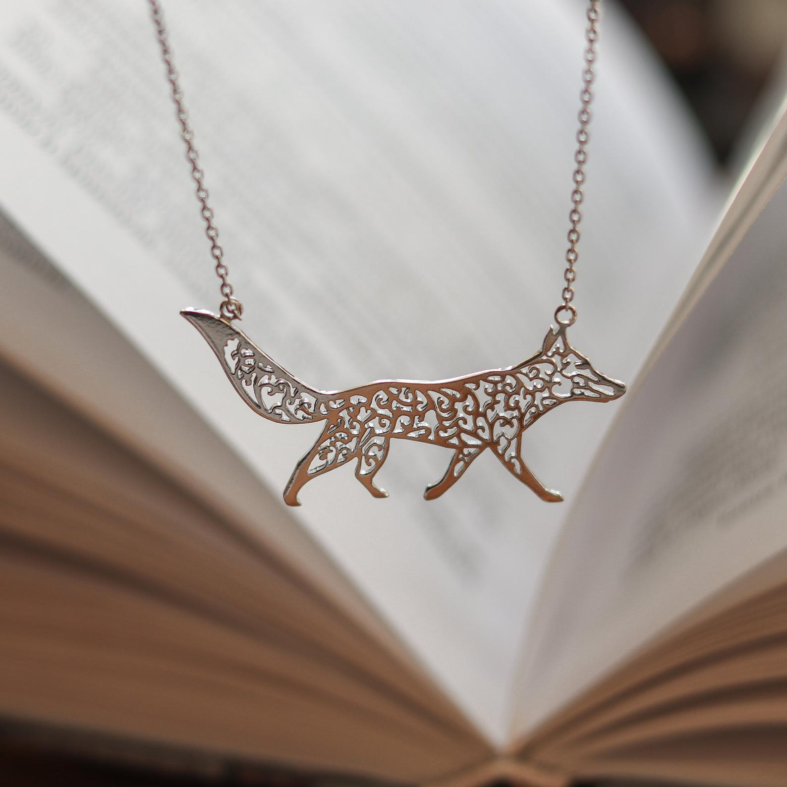 little prince fox silver necklace
